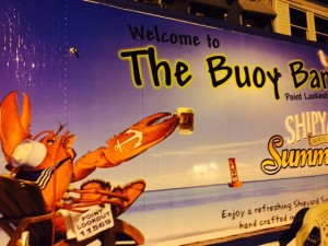 The Buoy Bar is a popular hangout in Point Lookout NY located bayside on the Reynolds Channel